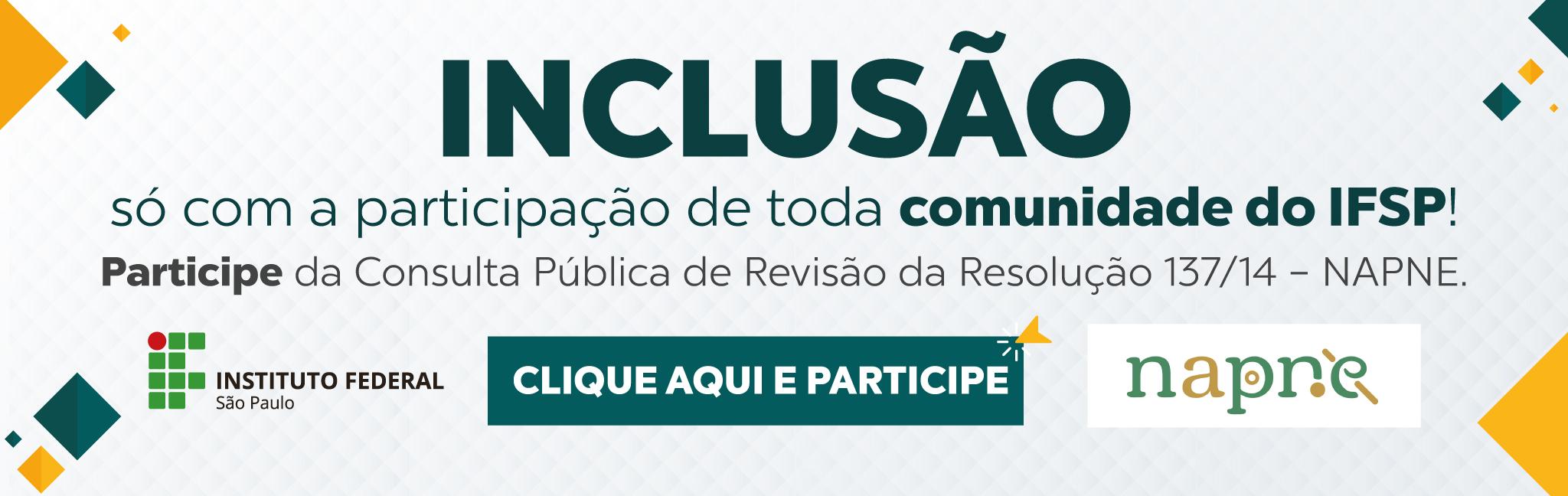 Consulta Pública de Revisão da Resolução 137/14 - NAPNE
