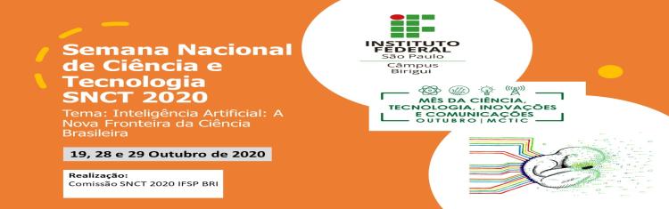 Semana Nacional de Ciência e Tecnologia 2020 IFSP