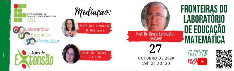 Laboratório de educação matemática promove uma palestra com o Prof. Dr. Sérgio Lorenzato
