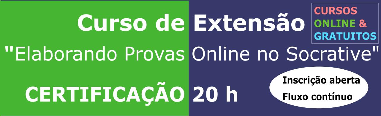EDITAL Nº 01/2021 - CURSO DE EXTENSÃO EAD - QUESTIONÁRIO ONLINE UTILIZANDO SOCRATIVE